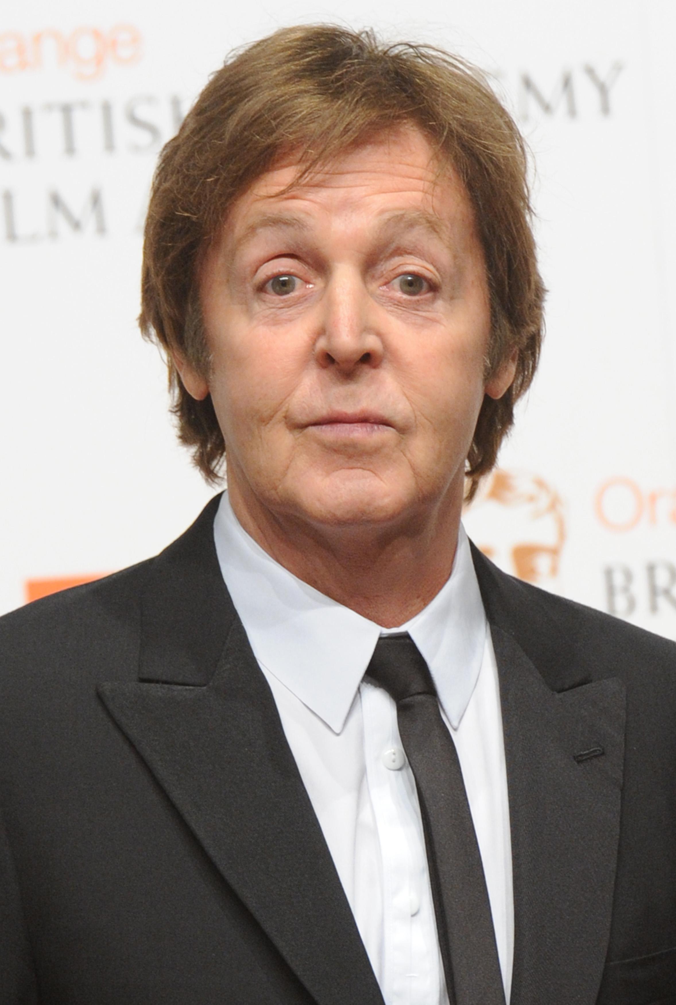 "Paul McCartney attends press room at ""BAFTA"" ceremony in London"